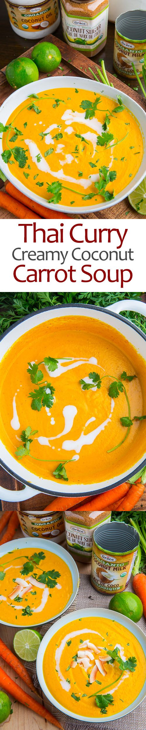 Creamy Curried Coconut Carrot Soup  Find healthy, delicious recipes at www.MarysLocalMarket.com Sustainable-Natural-Community  #maryslocalmarket