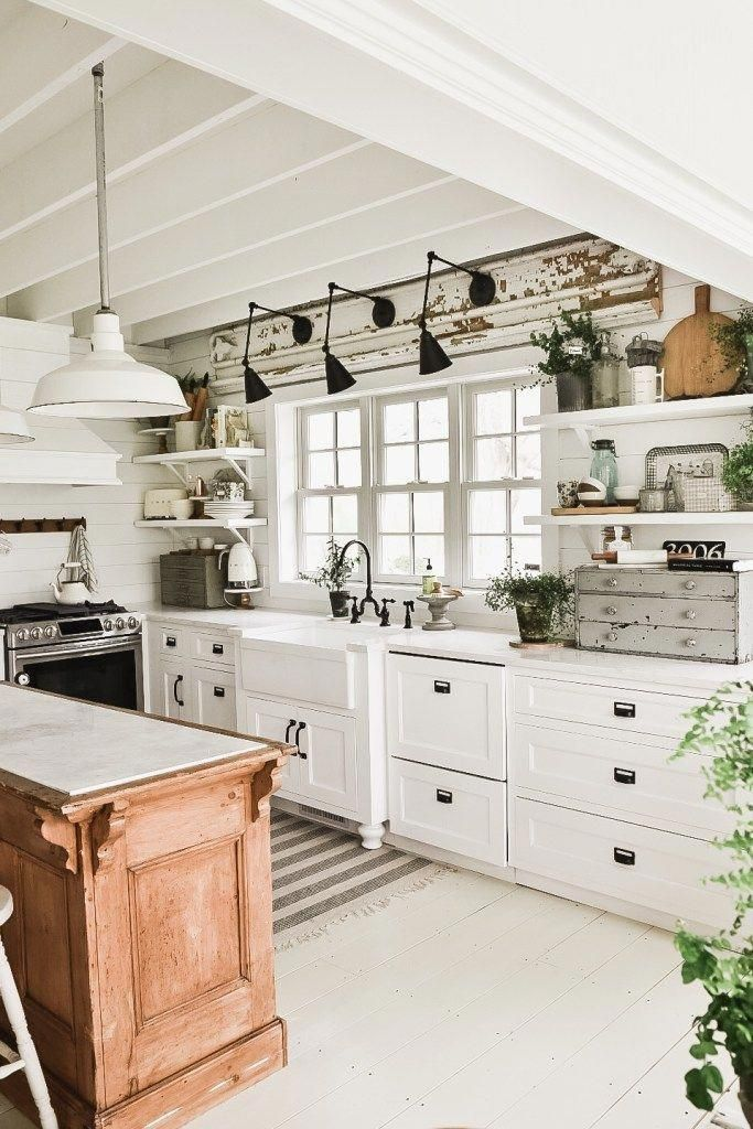 Awesome Kitchen With A Modern Rustic Farmhouse Vibe Homedecorrusticfarmhouse Rustic Farmhouse Kitchen Home Decor Kitchen Kitchen Style