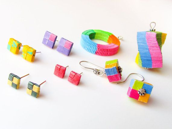 Tutorial  DIY Paper woven jewelry Box weaving paper by Paperica