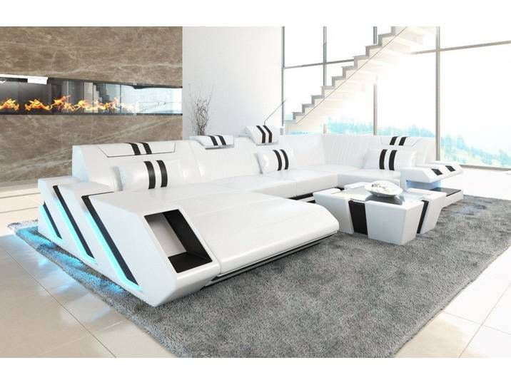 Sofa Dreams Wohnlandschaft Apollonia U Form Weiss Ohne Bettfunktio Modern Leather Sofa Leather Sectional Sofas Best Leather Sofa