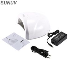 Original SUNUV Sunone Secador Do Prego 48 W Lâmpada UV 30 S 60 S Conjunto 365 + 405nm LED Branco Lâmpada de Luz Para Unhas de Gel Unha Polonês Prego SUNUV1 alishoppbrasil
