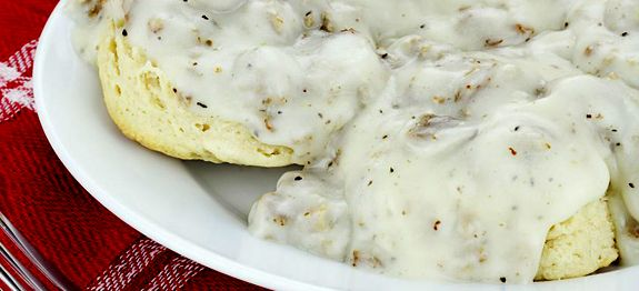 A super easy black pepper gravy recipe that goes perfect with biscuits, chicken, mashed potatoes and more. Make on the stove top in just a few minutes.