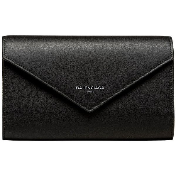 Balenciaga Papier Money Zip Around found on Polyvore featuring bags, wallets, black, flap bag, snap wallet, snap bag, long wallet and snap closure wallet