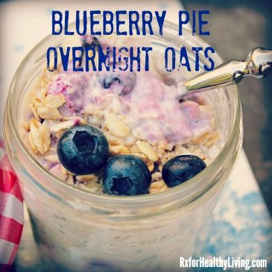 Blueberry Pie Overnight Oats - Vanilla Shakeology | #cleaneating #shakeology #recipes