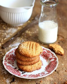 SOETKOEKIES - a traditional sweet biscuit (cookie) treat with coconut, oats, cinnamon and cloves.