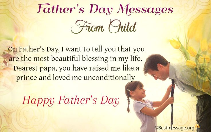 The 11 best happy fathers day wishes images on pinterest fathers fathers day messages from child m4hsunfo