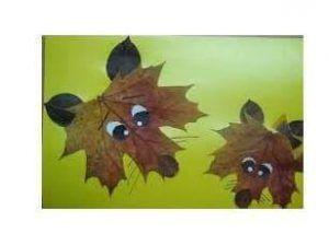 yapraklarla 3 boyutlu resim (3)