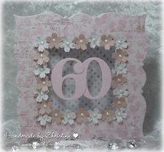 60th birthday Handmade by Christine: Just for fun... a big birthday card!