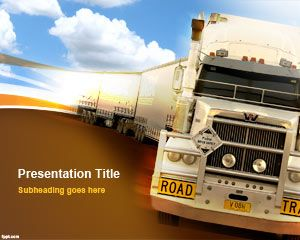 Free Heavy Truck PowerPoint Template | Free Powerpoint Templates