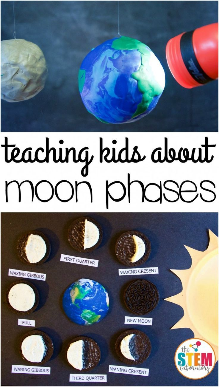 Fun ways to teach kids about moon phases! Great science ideas.