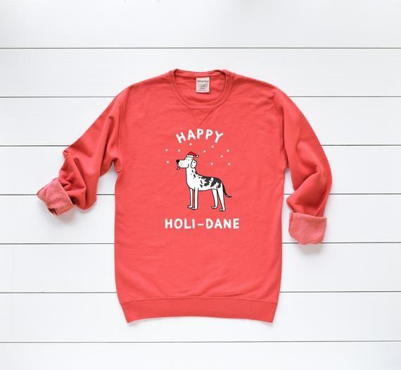 Great Dane Mama Sweatshirt Dog Mom Hoodie Floral Dog Silhouette