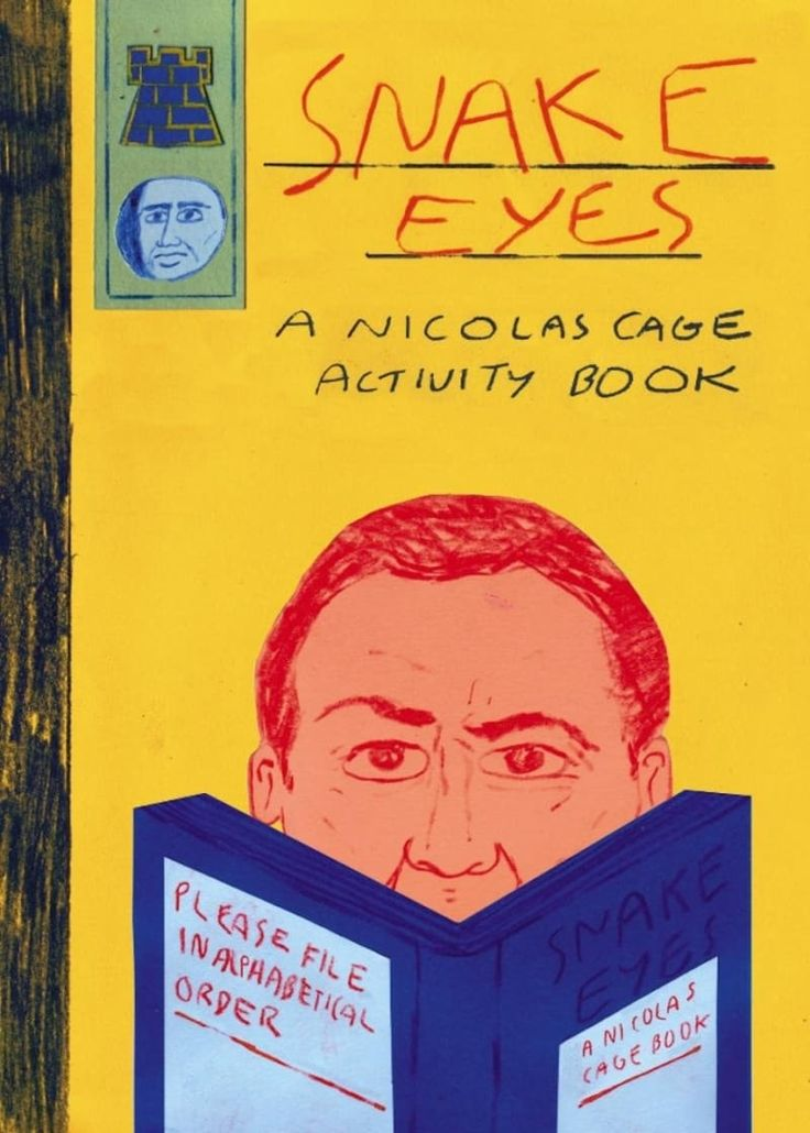 """::raises hand::Get it from Amazon for $10.51.Promising review: """"Nicholas Cage shows people how to be people; he is the definition of a perfect human being and this activity book is a perfect cross section of wall it means to be the big NC, meaning, what is perfection. 5 stars, 10/10, had I the funds, I would buy again."""" —Kindle Customer"""