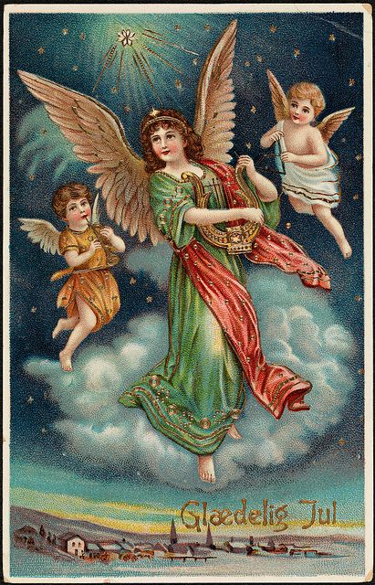 (Merry Christmas) Glædelig Jul, ca 1913 by National Library of Norway, via Flickr