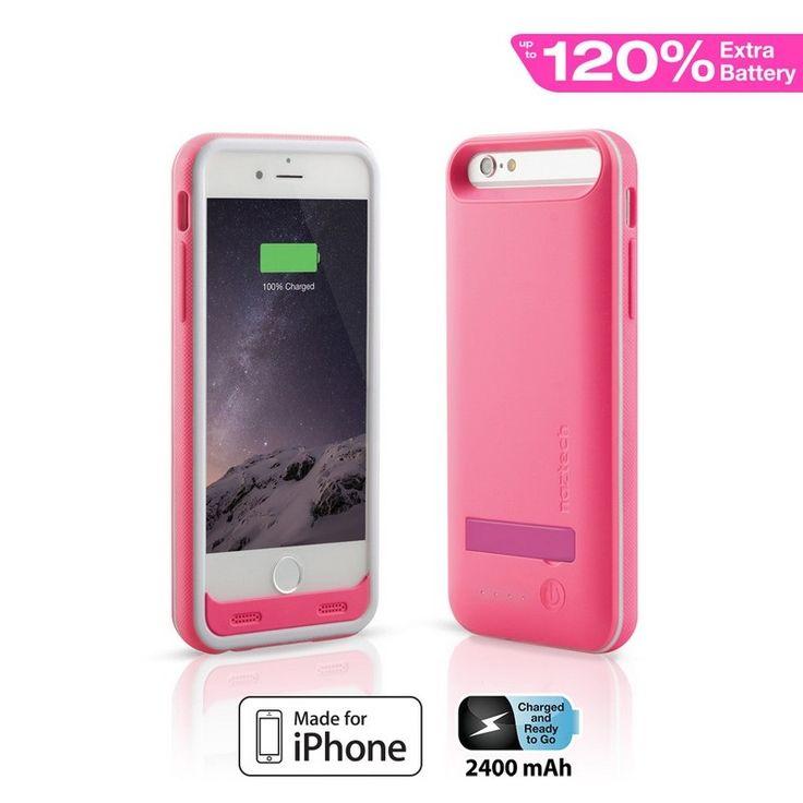 Naztech batteri etui til iPhone 6s/6