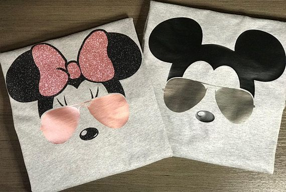 511036d01baa2 Disney Shirts,Couples, Mickey,Minnie,Mouse,Bow Ears, Aviator ...