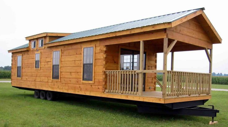 tiny houses on wheels how to build with log cabin home on trailer, nice design with long size home, good design and comfortable                                                                                                                                                     More