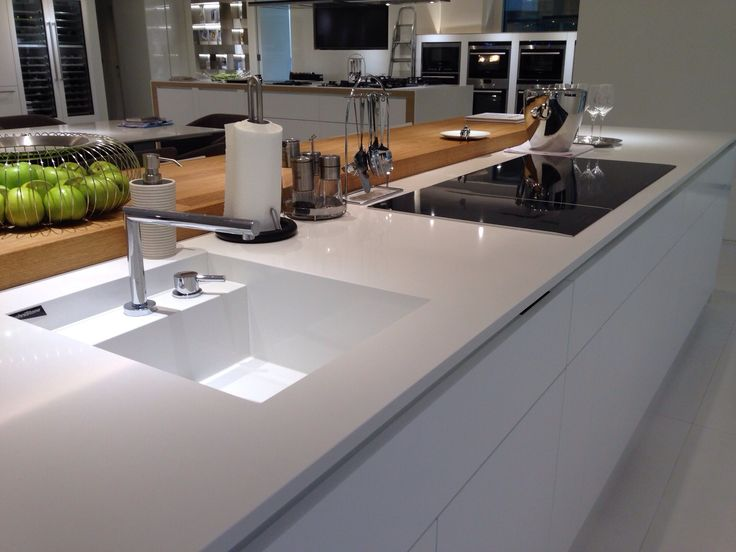#Technistone # Crystal Absolute White # sink