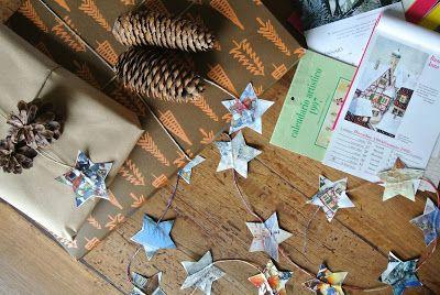 #Christmas #paper #stars #garland #DIY #ultimissimedallorto