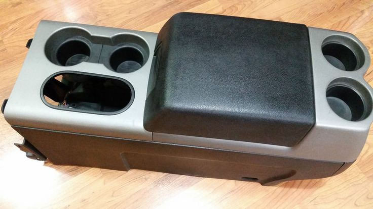 04 08 ford f 150 crew cab fx4 center console arm rest cup holder gray 1 fordoem m s auto. Black Bedroom Furniture Sets. Home Design Ideas