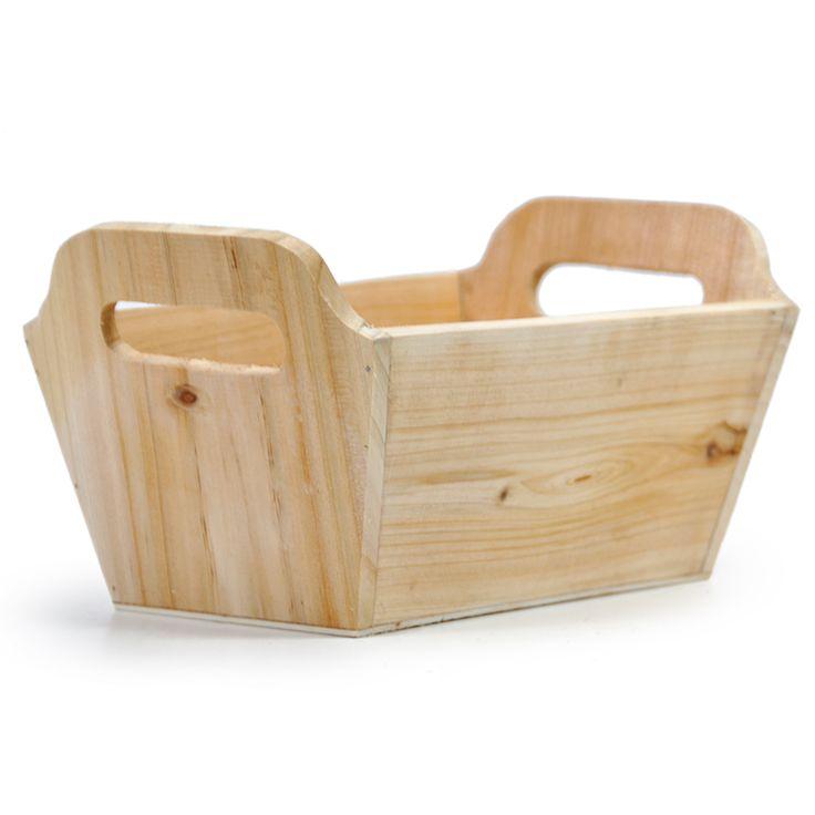 Natural Rectangular Wood Tray - Medium