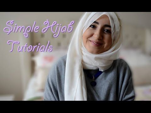 6 Simple Hijab Tutorials, Scarf Tying Ideas, How to wear Hijab, Turban T...
