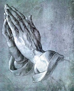 """The most often reproduced and widely known work of the Albrecht Dürer is the gray and white brush drawing on blue-grounded paper, entitled the """"Hands of the Apostle,"""" generally known as """"The Praying Hands"""""""