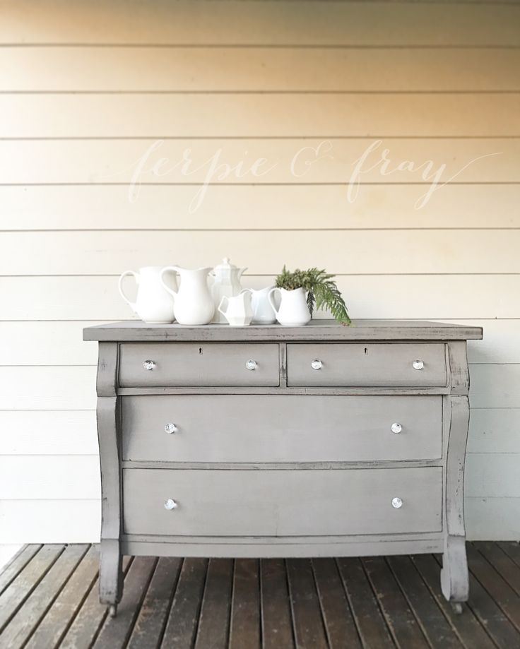 Dresser painted by Amanda of Ferpie + Fray using Boardwalk by Real Milk Paint Co.