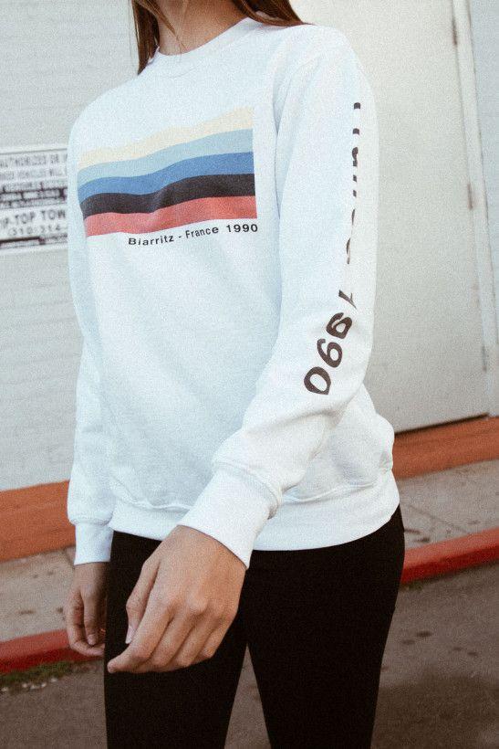 Erica France Biarritz 1990 Sweatshirt - Graphics   closet   Ärmel ... 0402d1f63e00