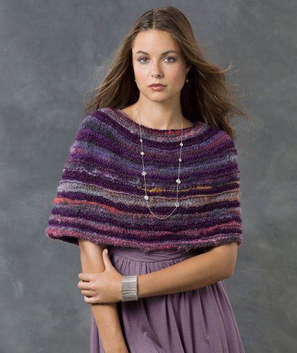 When you use a yarn that has a lot of interest, you can make a really easy design like this and still look smashing! It's also a great gift idea since no special fitting is needed.