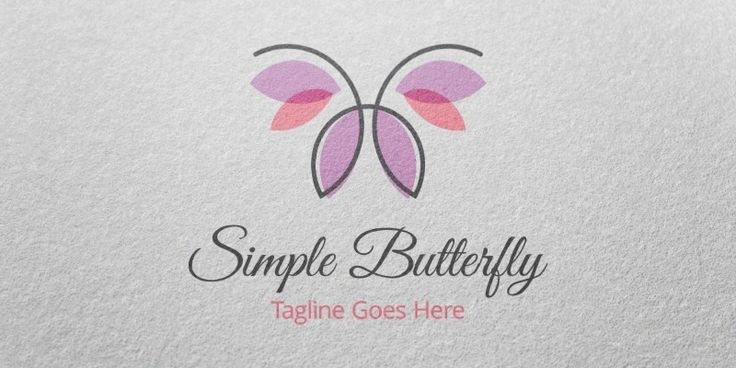 Simple Butterfly Logo Template, only 29$ + VAT