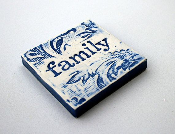 FAMILY - We may not have it altogether BUT together we have it all - yep Family - without it you have no anchor. Royal blue wallpaper print