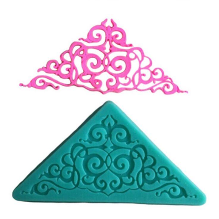 Silicone Triangle Corner Lace Fondant Craft Mould