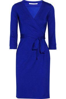Diane von Furstenberg New Julian jersey wrap dress | NET-A-PORTER Does DVF come in my size?