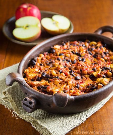 Smoky Apple Baked Beans from FatFree Vegan Kitchen