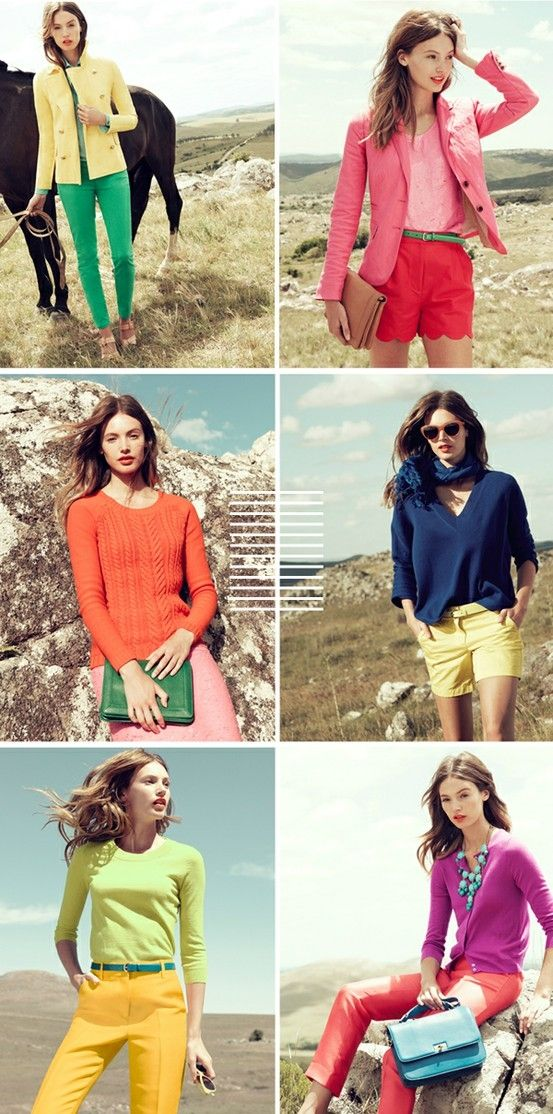 color blocking - it's in your closet, just look