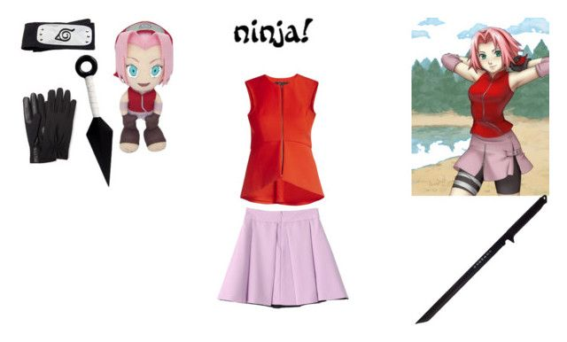 sakura haruna by mayleneholm on Polyvore featuring BCBGMAXAZRIA, Isotoner and GE