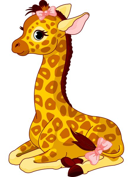Girl Giraffe Sticker