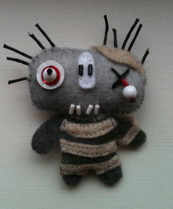 Zombie mummy handsewn with love felt craft by AMITYJOHNSON on Etsy, $10.00