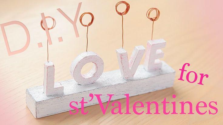 StValentine's diy gift. Подставка для фото на день всех влюбленных