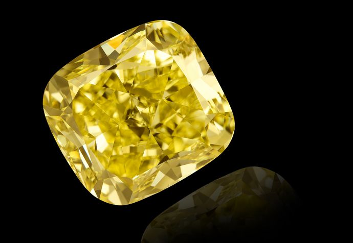 Canary Yellow Diamonds - extremely popular in modern jewellery FACT: The Tiffany Yellow is one of the most famous of the yellow diamonds.  It is believed that the diamond was found in 1877 or 1878 at the De Beers Mine in South Africa.  In the rough, the stone was a beautiful canary-yellow octahedron weighing 287.42 (metric) carats and it was valued at $12,000.000 in 1983.