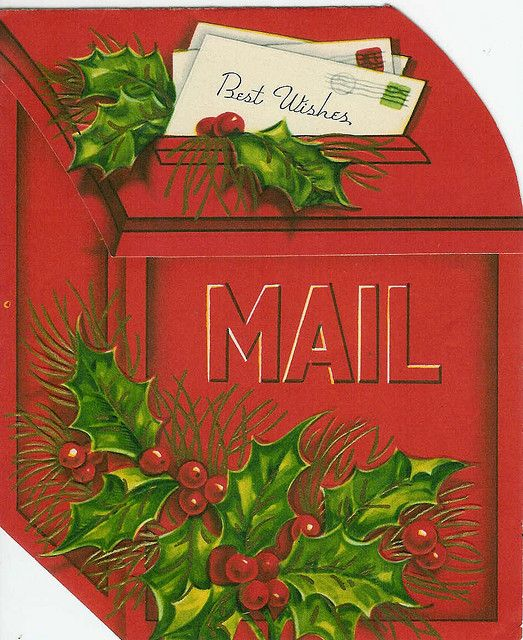We always had a x-mass mail book in grade school (late 60's early 70's)