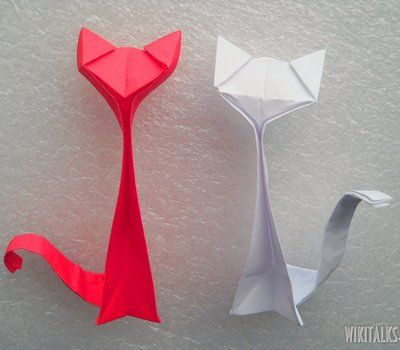 How to make an origami cat out of paper