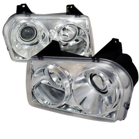 Spec-D LHP-30005-TM | 2008 Chrysler 300 Chrome/Clear Projector Headlights for Sedan