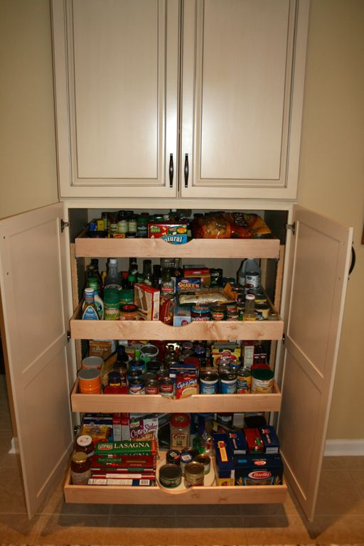 25 best ideas about pull out pantry on pinterest for Kitchen pantry cabinet