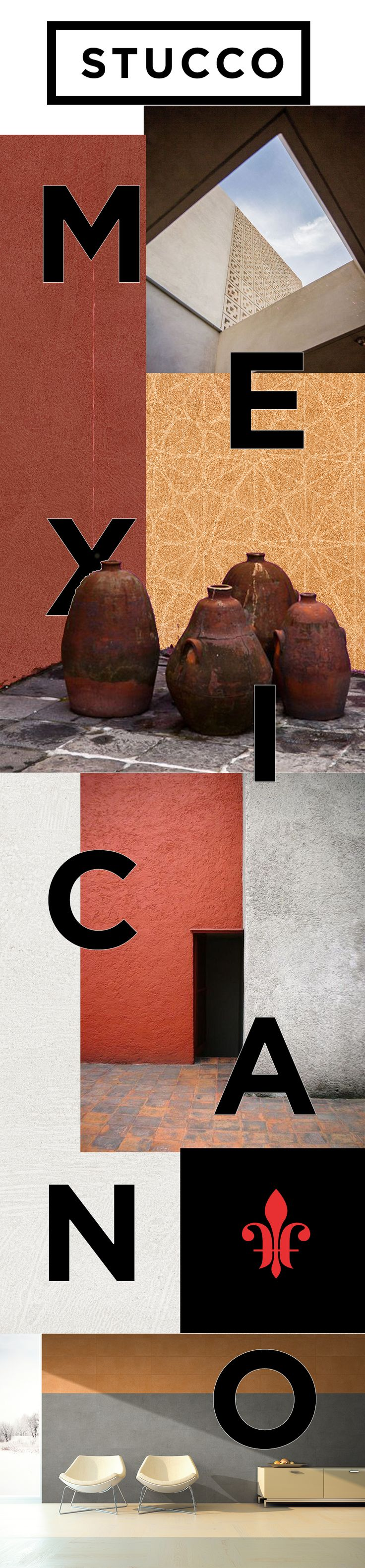 El porcelánico Stucco trae los colores de barrio antiguo de la cuidad de Monterrey y crea un propuesta expresando colores mexicanos que agregan energía y dinamismo al espacio.