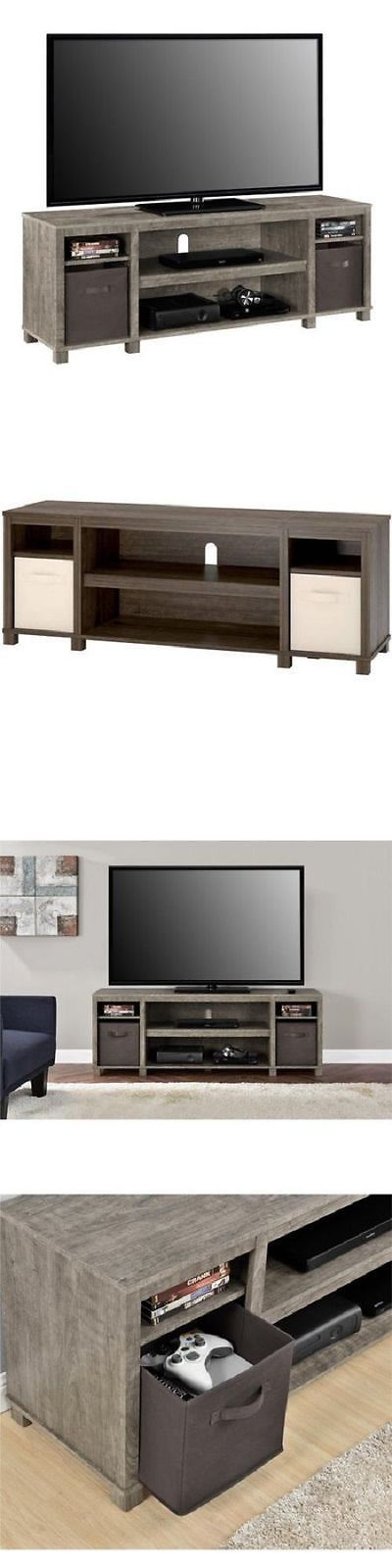 Entertainment Units TV Stands: 65 Inch Tv Stand Entertainment Center Home Theater Media Storage Wood Console -> BUY IT NOW ONLY: $111.97 on eBay!
