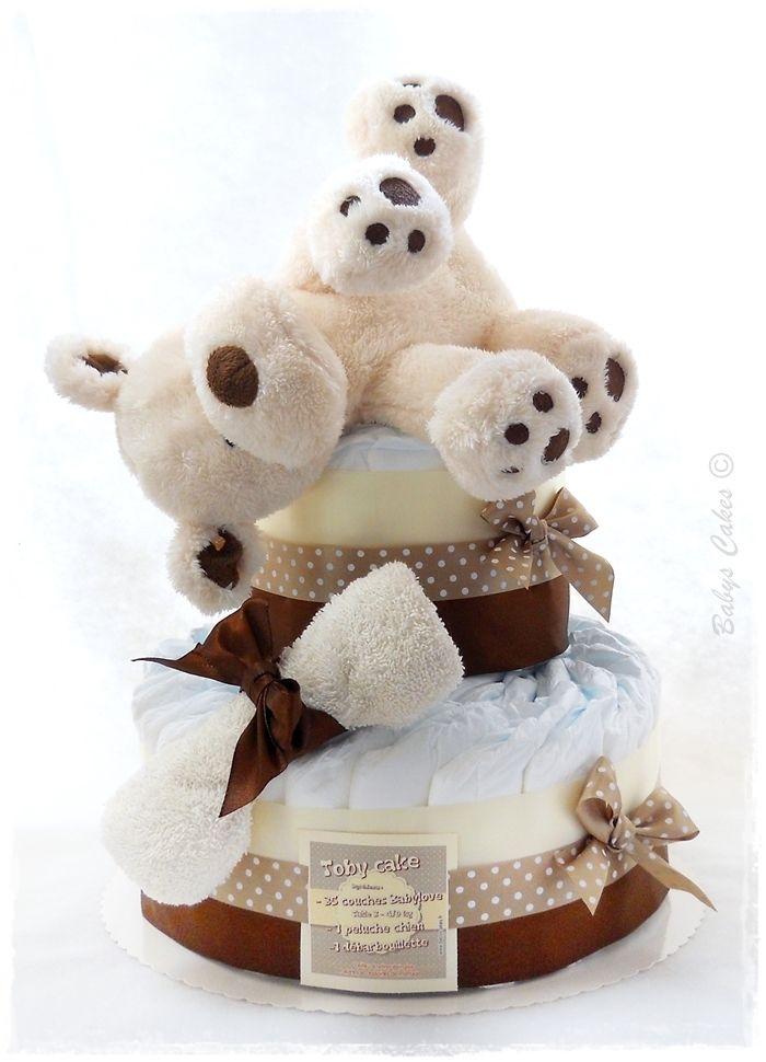 Gateau de couches Toby cake - Babys Cakes boutique