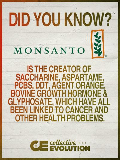 "MONSANTO - Satanic Illuminati freemason's company whicg try to poison us and have done terrible experiments ""in the name of MONEY and SADISTIC POWER - BOYCOTT all its products!"