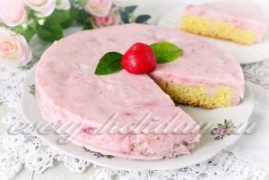 Йогуртовый торт, рецепт с пошаговым фото