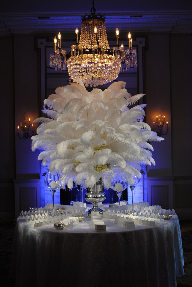 Chandeliere, Feathered table piece